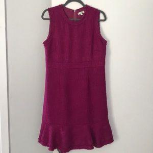 Jade Fuchsia Tweed Dress